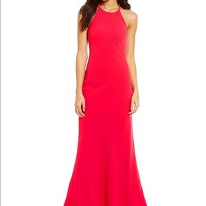 Calvin Klein Crepe Red Gown